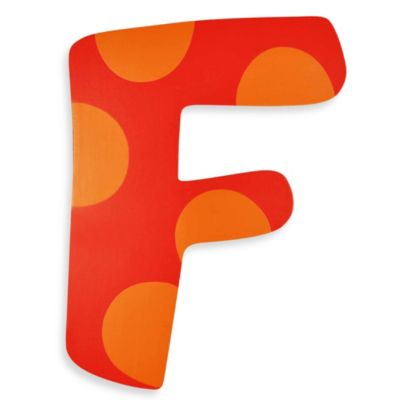 "Bright-Colored Wooden Letter ""F"""