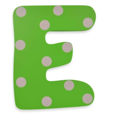 "Bright-Colored Wooden Letter ""E"""