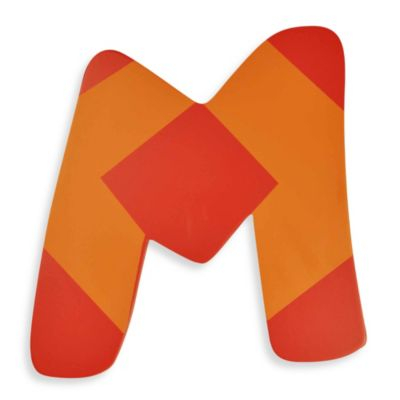 "Bright-Colored Wooden Letter ""M"""