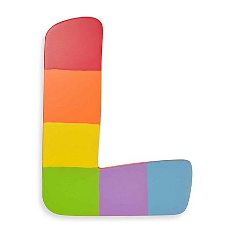 Bright-Colored Wooden Letter