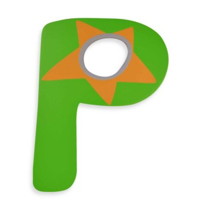 "Bright-Colored Wooden Letter ""P"""