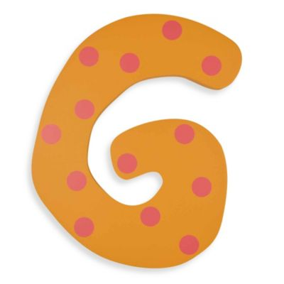 "Pastel-Colored Wooden Letter ""G"""