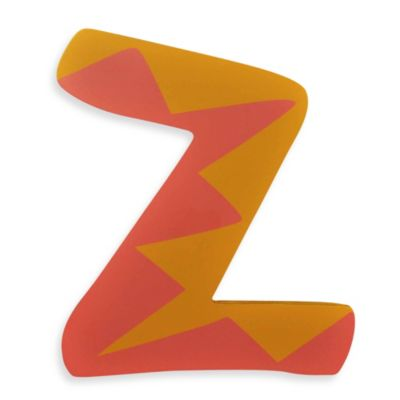 "Pastel-Colored Wooden Letter ""Z"""