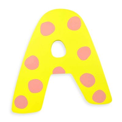 "Pastel-Colored Wooden Letter ""A"""