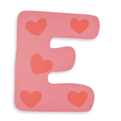 "Pastel-Colored Wooden Letter ""E"""