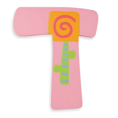 "Pastel-Colored Wooden Letter ""T"""