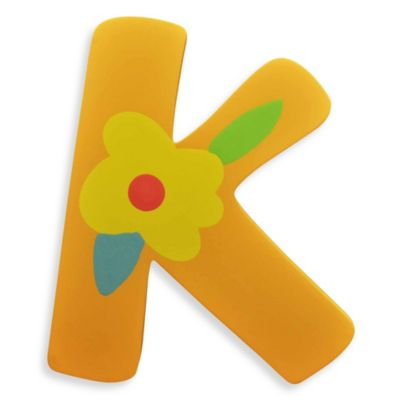 "Pastel-Colored Wooden Letter ""K"""