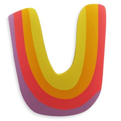 "Pastel-Colored Wooden Letter ""U"""