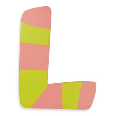 "Pastel-Colored Wooden Letter ""L"