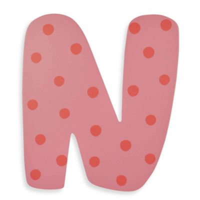 "Pastel-Colored Wooden Letter ""N"""