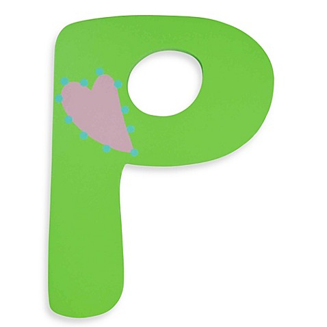 Pastel-Colored Wooden Letter