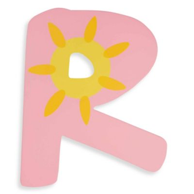 "Pastel-Colored Wooden Letter ""R"""