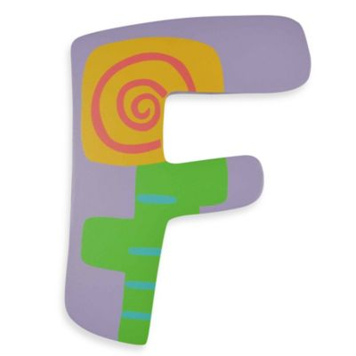 "Pastel-Colored Wooden Letter ""F"""
