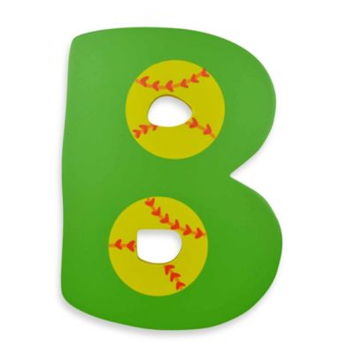 "Bright-Colored Wooden Letter ""B"""