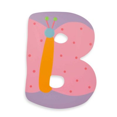 "Pastel-Colored Wooden Letter""B"""