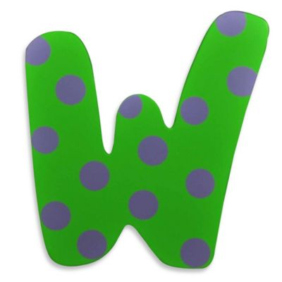 "Bright-Colored Wooden Letter ""W"""