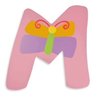 "Pastel-Colored Wooden Letter ""M"""