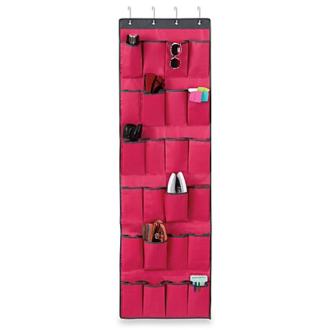 Over-the-Door 24-Pocket Shoe Organizer in Azalea