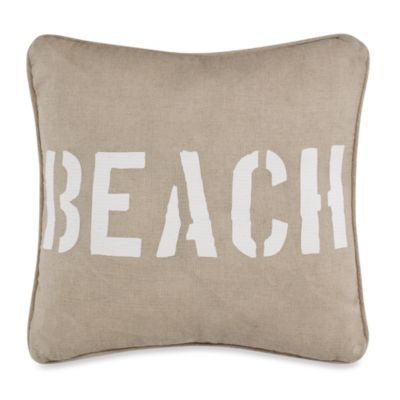 Solid Seashell Sand Square Toss Pillow