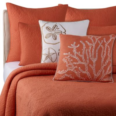 Solid Seashell Coral Pillow Shams