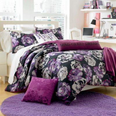 Steve Madden Brooke 5-Piece Full/Queen Comforter Set in Purple Floral