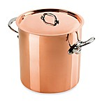 Mauviel 1830 M'heritgage 150s Copper 11.7-Quart Stock Pot with Lid