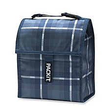 PackIt® 8-Inch Lunch Bag in Black Plaid