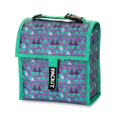 PackIt® 8-Inch Lunch Bag in Triangle Purple