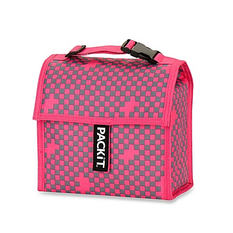 PackIt® Mini Lunch Bag-Inchecker Pink