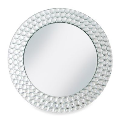 Chargeit! By Jay Mirror Beads Charger Plates in Silver (Set of 4)
