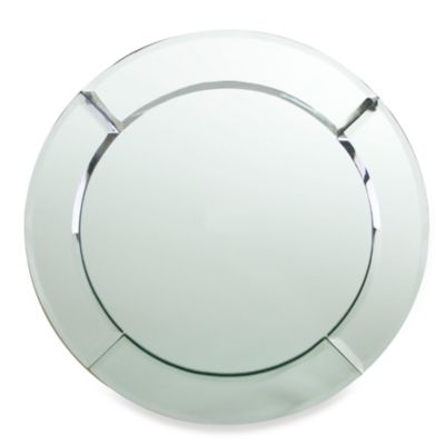 Chargeit! By Jay Mirror Round Charger Plates in Silver (Set of 4)