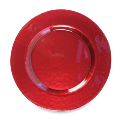 Chargeit! By Jay Glory Charger Plates in Red (Set of 4)