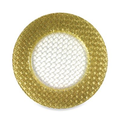 Chargeit! By Jay Braid Charger Plates in Gold (Set of 4)