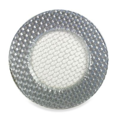 Chargeit! By Jay Braid Charger Plates in Silver (Set of 4)