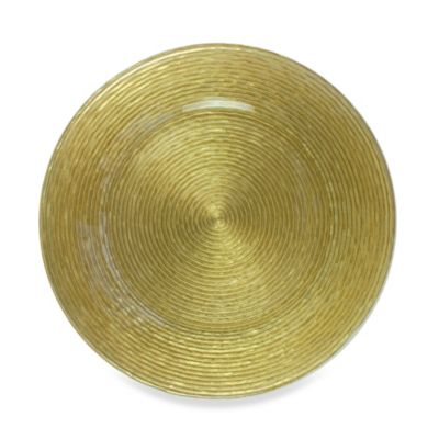 Chargeit! By Jay Circus Charger Plates in Gold (Set of 4)