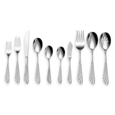 La Plume 45-Piece Stainless Steel Flatware Set