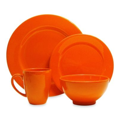 Orange Dinnerware 16 Piece Set