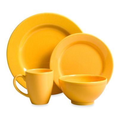 Waechtersbach Fun Factory 16-Piece Dinnerware Set with Jumbo Mugs in Buttercup