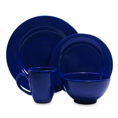 Waechtersbach Fun Factory 16-Piece Dinnerware Set with Jumbo Mugs in Royal Blue