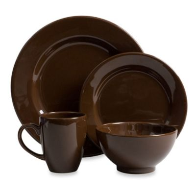 Waechtersbach Fun Factory 16-Piece Dinnerware Set with Mugs in Chocolate