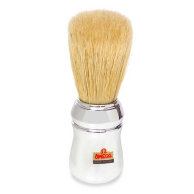Omega® Boar Bristle Shaving Brush in Faux Chrome