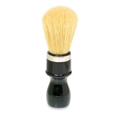 Omega® Boar Bristle Shaving Brush with Black Handle