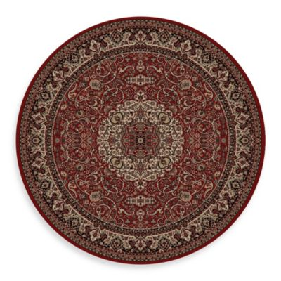 Concord Global Trading Isfahan Red 63-Inch Round Rug