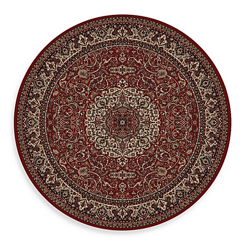 Concord Global Isfahan Red 7-Foot 10-Inch Round Rug