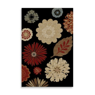 Concord Global Kaleidoscope Black 5-Foot 3-Inch x 7-Foot 7-Inch Rug