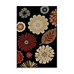 Concord Global Kaleidoscope Black Rug