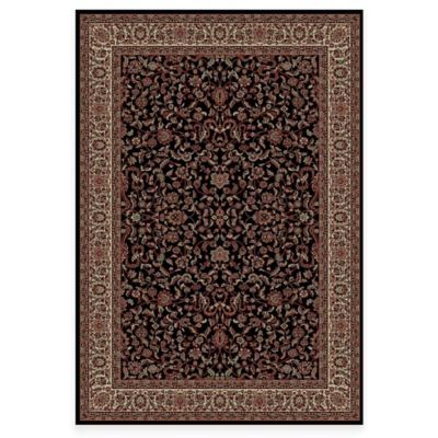Concord Global Trading Jewel Kashan 3-Foot 11-Inch x 5-Foot 7-Inch Rug in Black
