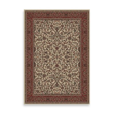 Concord Global Trading Jewel Kashan 3-Foot 11-Inch x 5-Foot 7-Inch Rug in Ivory