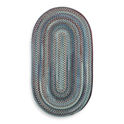 Capel Kill Devil Hill 3-Foot x 5-Foot Oval Indoor Braided Rug - Blue