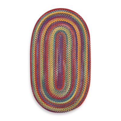 Capel Kill Devil Hill 3-Foot x 5-Foot Oval Indoor Braided Rug - Multi Brights